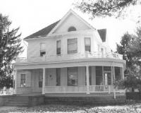 The Blum House was donated in 2000 to the Board of Trustees of the Collinsville Memorial Library by the Collinsville Savings & Loan