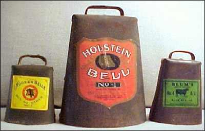 3 of the Famous Blum Cowbells in Great Condition