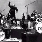 "The Band ""Rich and Gene Krupa"" using a Blum Cowbell"