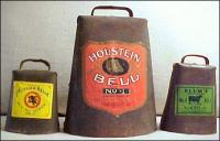 3 of Blum's Famous Cowbells in Great Condition
