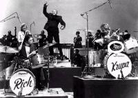 The Band Rich and Gene Krupa using a Blum Cowbel