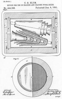 Patent Drawing of Blum Cowbell