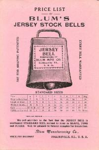 Jersey Bell Price List Flyer